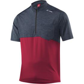Löffler Rainbow Bike Shirt Half-Zip Herren maroon
